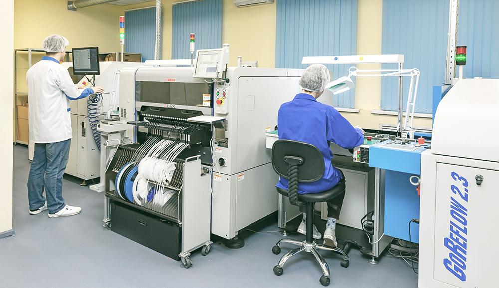 Производственные линии компании Резалт Электроника